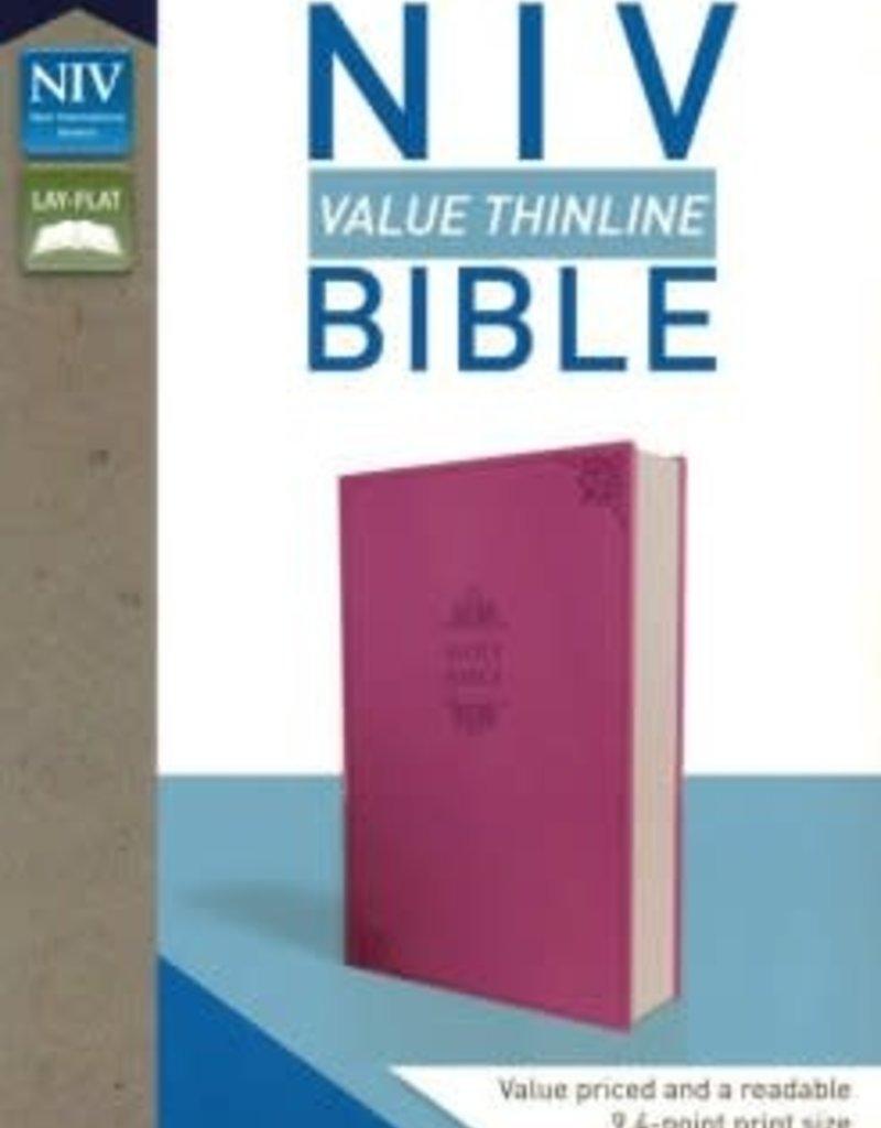 NIV, Value Thinline Bible, Leathersoft, Pink, Comfort Print