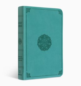 VALUE COMPACT BIBLE, TruTone Imitation Leather, Turquoise with Emblem Design