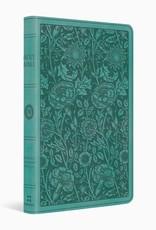 PREMIUM GIFT BIBLE-TruTone, Teal Floral Design