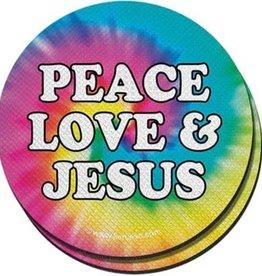Peace Love Jesus Cup Holder Coaster