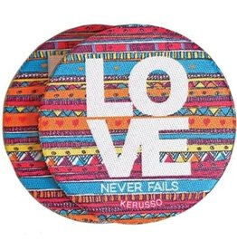 Love Never Fails Cup Holder Coasters