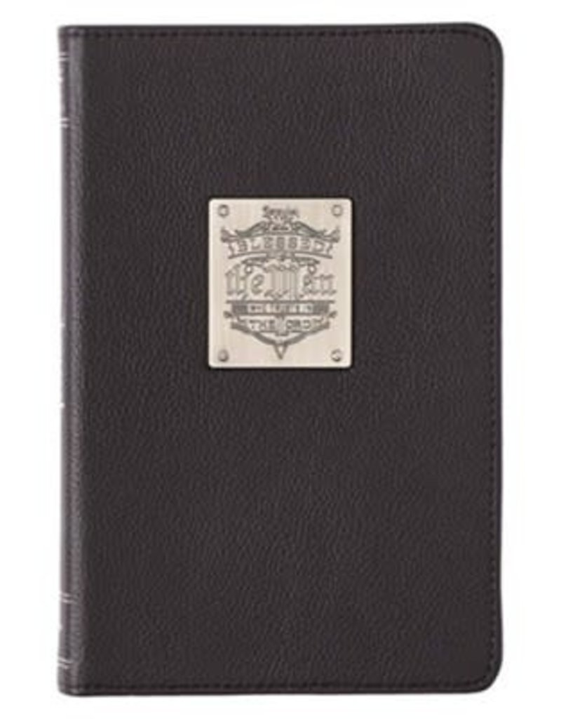 Blessed Is The Man Badge Full Grain Leather Journal