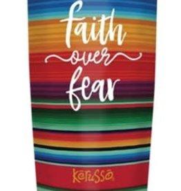 Faith Over Fear Stainless Steel Mug, 20 oz