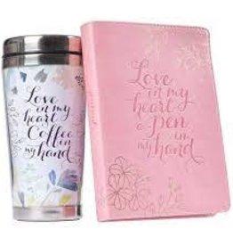 Love in My Heart Travel Mug &  Journal  Gift Set