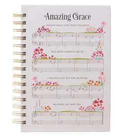 Amazing Grace Sheet Music Wirebound Journal