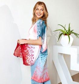 Watercolor Kimono Pink/Blue