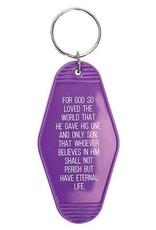 Jesus Is The Key, Retro Motel Keychain