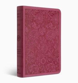 ESV Compact Bible/Large Print-Berry Floral Design TruTone