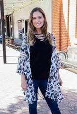 Looking Spot on Black & White Kimono