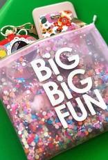 "Glitter ""Big Big Fun"" Everything Pouch"