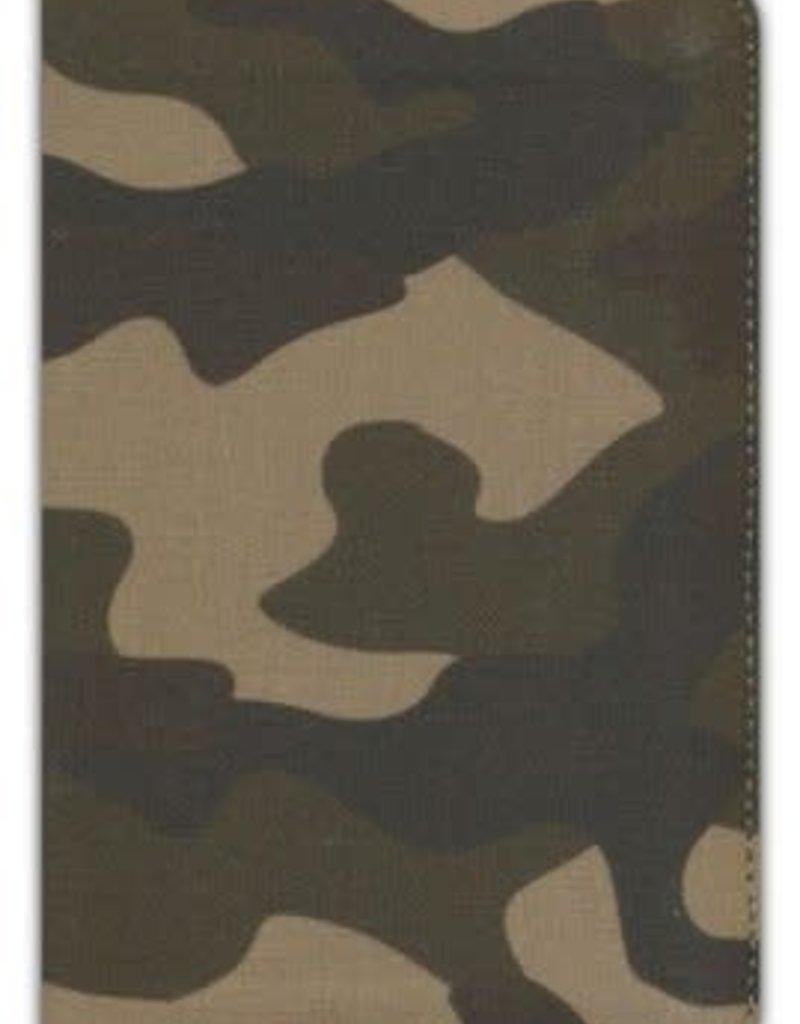 ESV Compact Bible--cloth/canvas with zipper, camo design