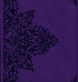 ESV Value Compact Bible--soft leather-look, lavender w/filigree design