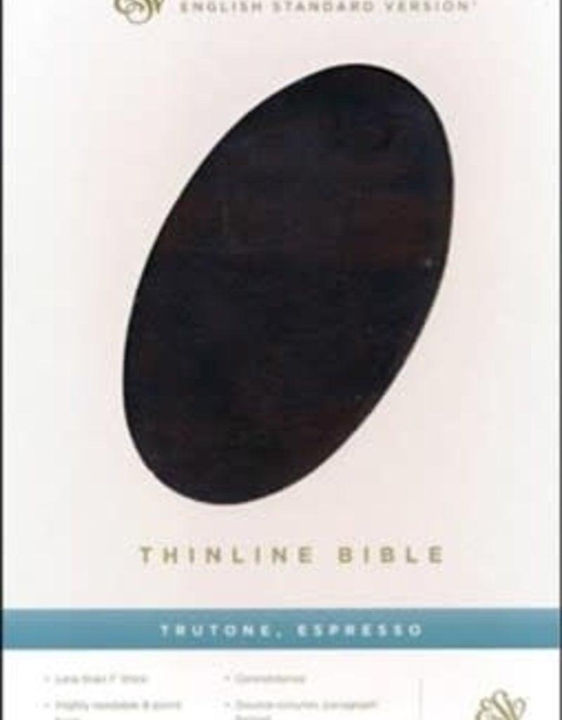 ESV Thinline Bible-Espresso TruTone