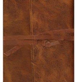 ESV Thinline Bible-Natural Leather w/Flap & Strap