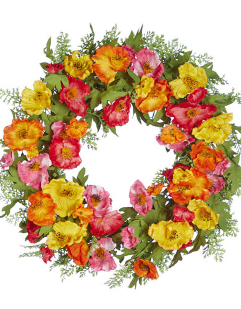 "Poppy Wreath 24"""