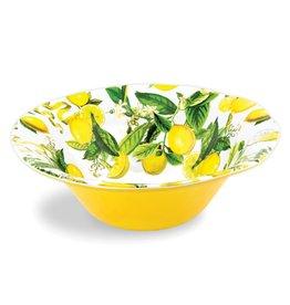 Lemon Basil Melamine Serveware Large Bowl