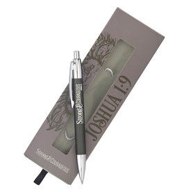 Pen-Classic-Gray/Strong & Courageous w/Gift Box