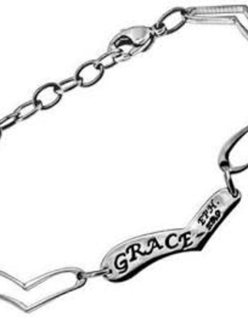Heart Link Bracelet Grace