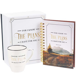 I Know the Plans Journal and Mug Boxed Gift Set