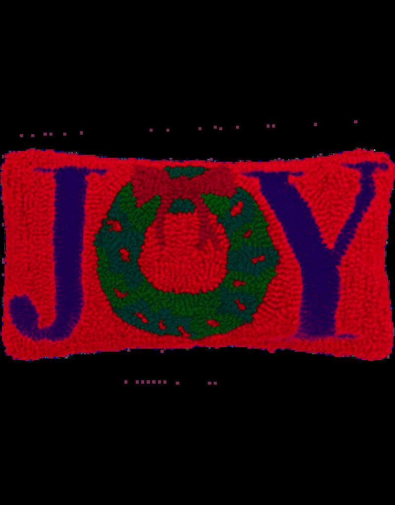 Joy Wreath Hooked 6 x 12 Gift Pillow