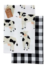 COW WAFFLE WEAVE TOWEL SET