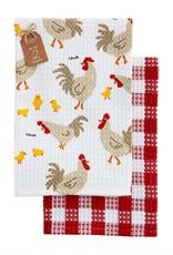 CHICKEN WAFFLE WEAVE TOWEL SET