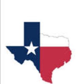 Texas Map Terry Towel
