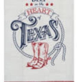 Texas Pride Deep in The Heart Tea Towel