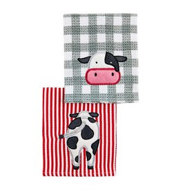 COW ICONS SCRUBBER DISHCLOTH