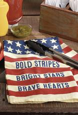 Dish Towel - Bold Stripes Bright Stars
