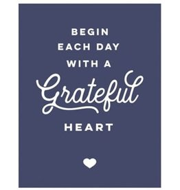 Begin Each Day with a Grateful Heart Magnet