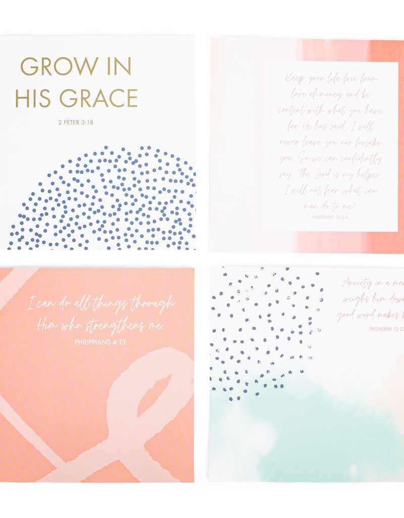 Grow His Grace  Inspirational Prayer Cards  w/Base