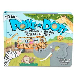 Melissa & Doug Children's Book - Poke-A-Dot: The Wheels on the Bus Wild Safari