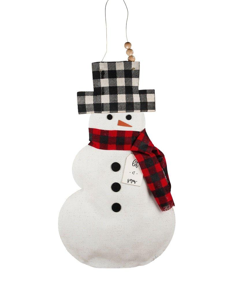 Let It Snow Snowman Burlee