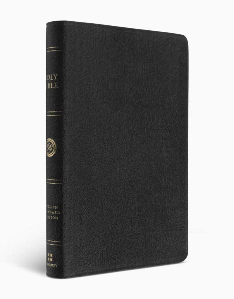 ESV Large Print Thinline Bible  Genuine Leather, Black