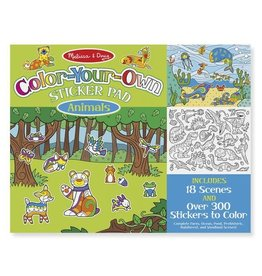 Melissa & Doug Color Your Own Sticker Pad- Animals