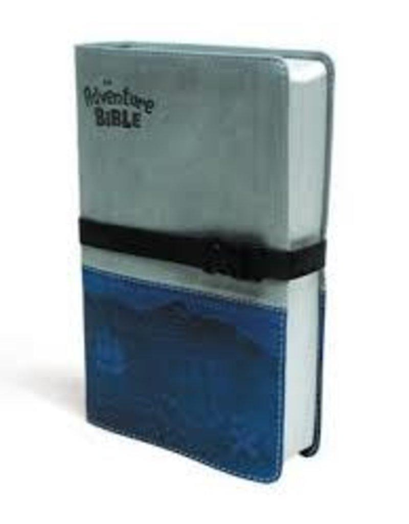 NIV Adventure Bible, Italian Duo-Tone, Clip Closure, Gray/Blue