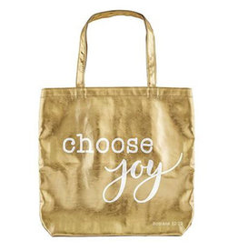 Tote Bag-Choose Joy-Gold