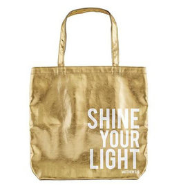 Tote Bag-Shine Your Light-Gold
