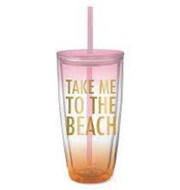 Take Me to the Beach Travel Tumbler 22oz.