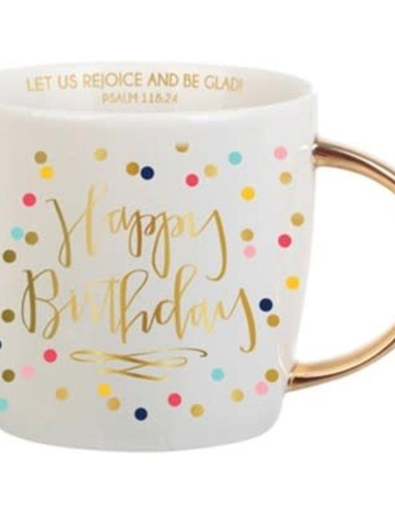 Happy Birthday Mug (dots) 14 OZ