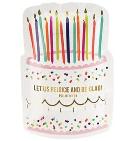Birthday Cake Plate 8pk
