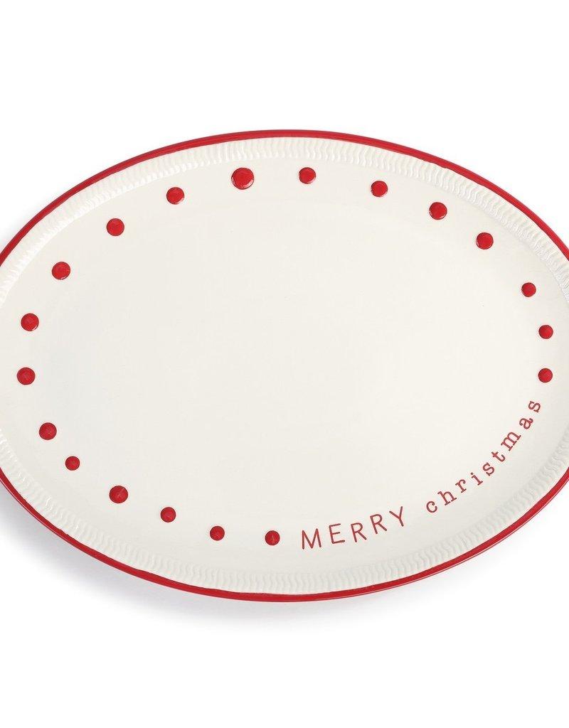 Merry Christmas Oval Platter - 15x11
