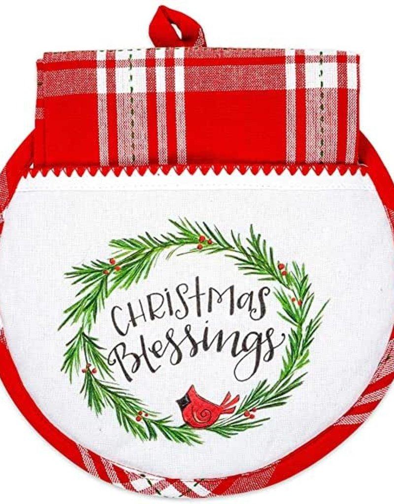Christmas Blessings  Hot Pad/Towel