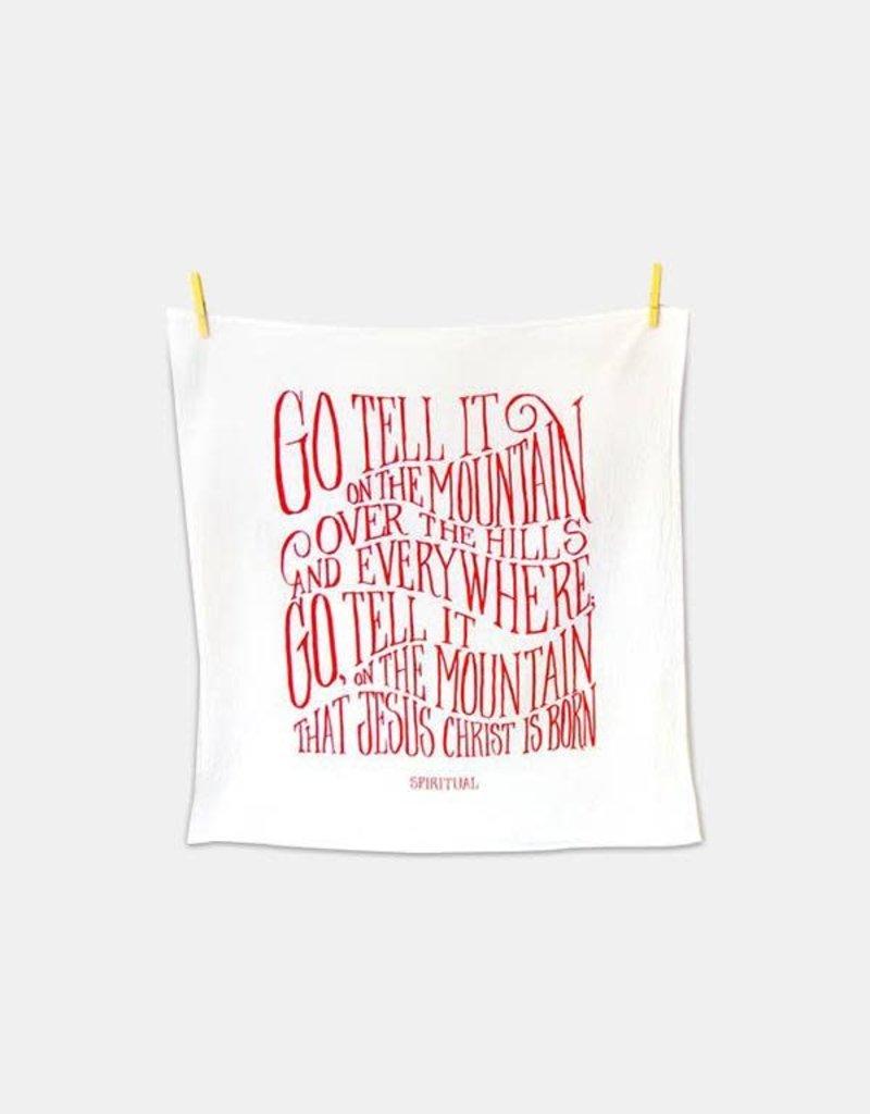 Little Things Studio Go Tell it on the Mountain Tea Towel
