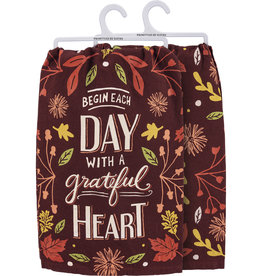 Dish Towel - Begin Each Day With A Grateful Heart