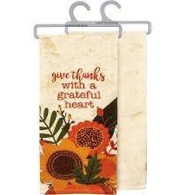 Dish Towel - Give Thanks With A Grateful Heart