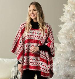 Reindeer Holiday Poncho