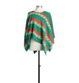 Red and Green Holiday Poncho