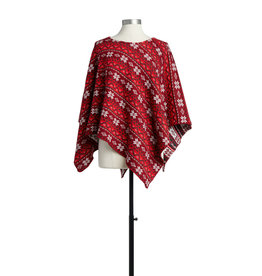 Red and White Holiday Poncho